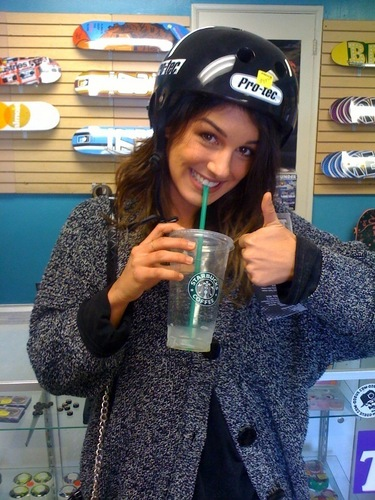 Shenae Grimes is All About Skateboarding