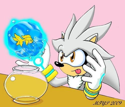 Silver testing out his powers