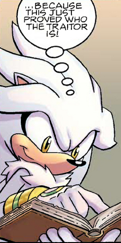 Silver the Hedgehog wallpaper possibly containing animê titled Silver with a book