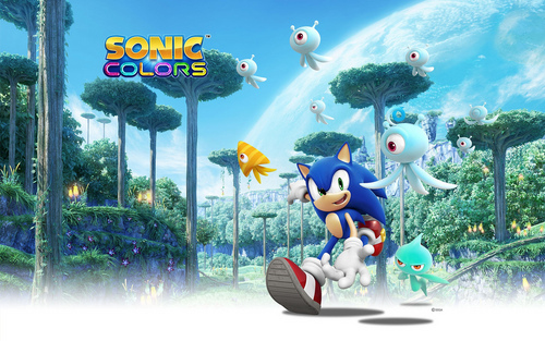 Sonic couleurs fond d'écran