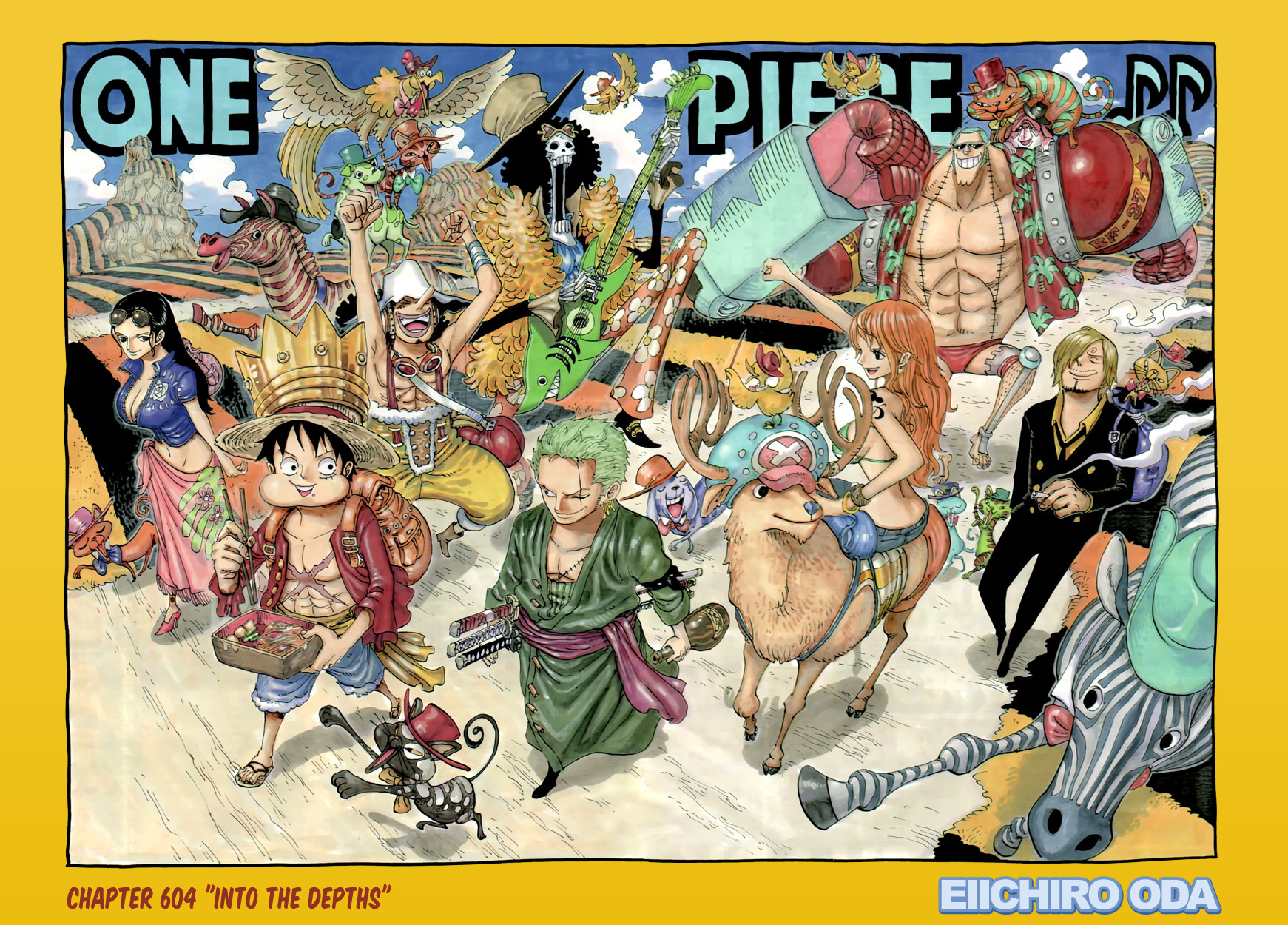 The strawhats after the timeskip