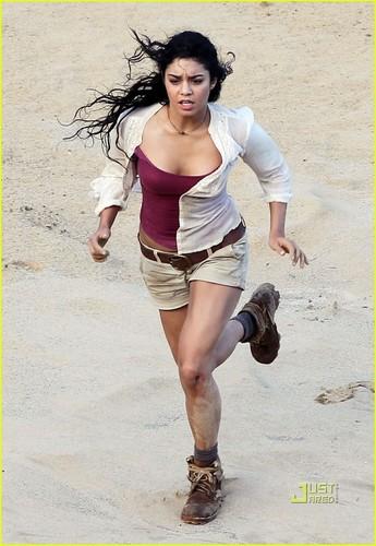 """Vanessa on set """"Journey 2"""""""