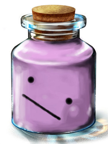 あなた got DITTO in a bottle! Use it with C to transform it into anything!