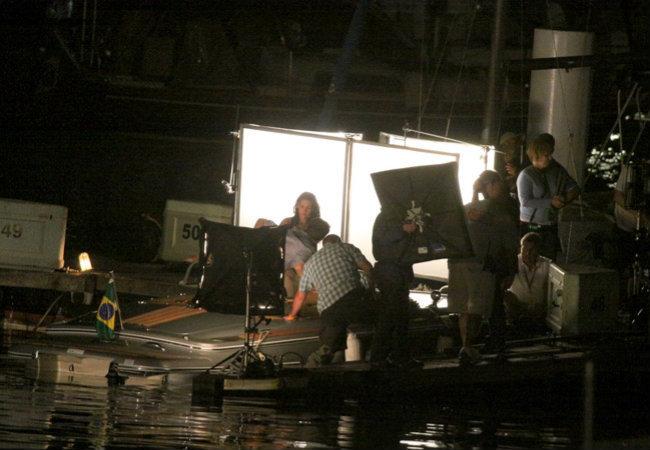 filming Breaking Dawn at yachthafen, marina da Gloria