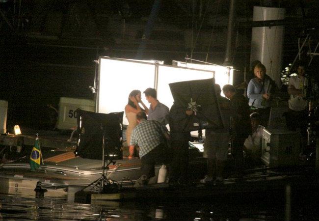 filming Breaking Dawn at puerto pequeño, marina da Gloria