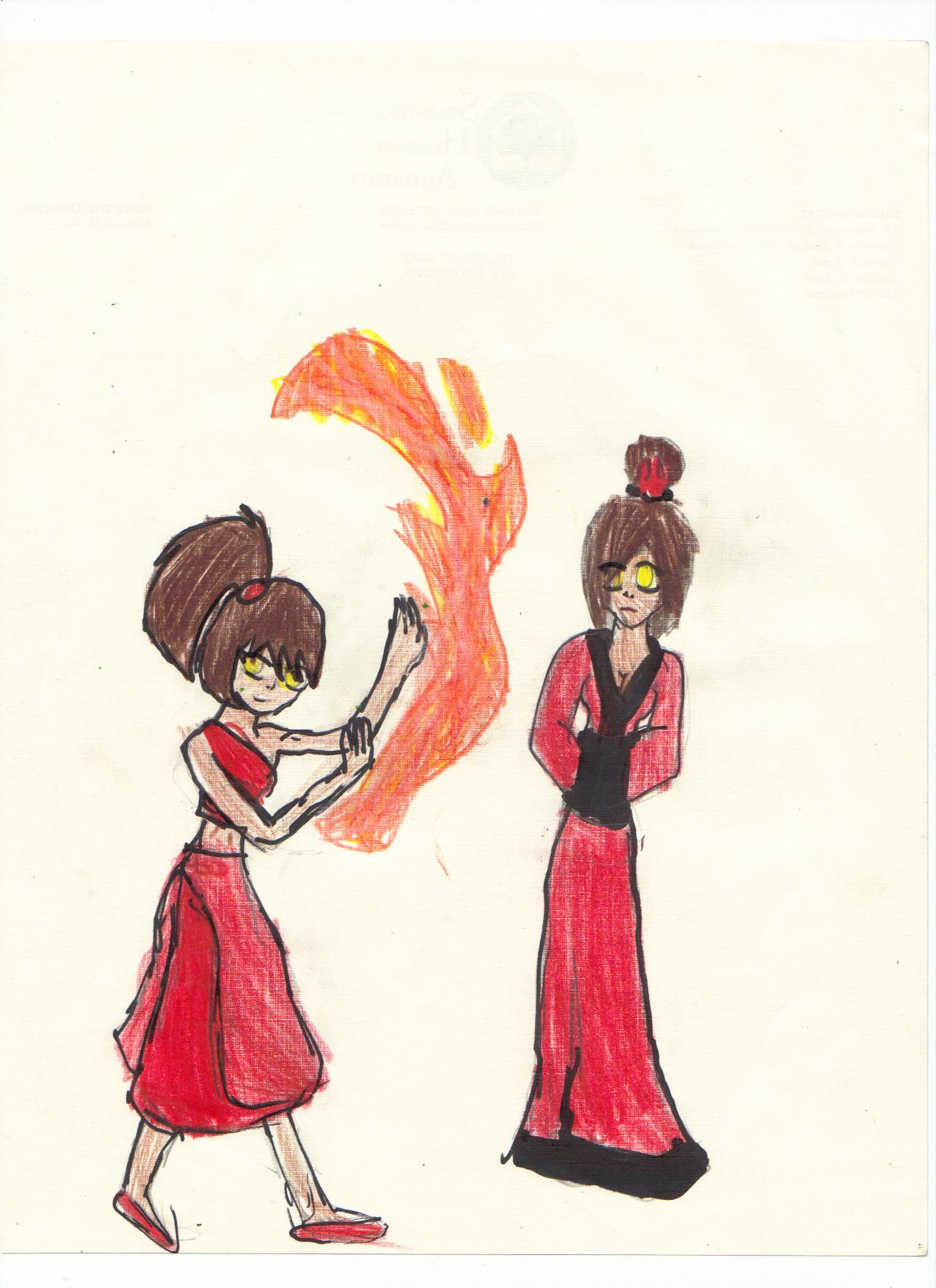 random firebending girl