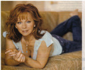 reba laying on couch
