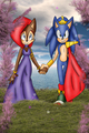 sonic king sally queen - sonally-vs-sonamy-vs-sonadow photo