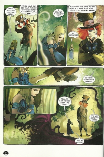 Alice in Wonderland (2010) wallpaper called AiW graphic novel