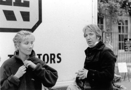 Alan Rickman Behind the scene of Sense and Sensibility