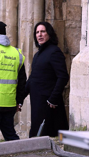 Alan Rickman wolpeyper containing a portcullis, a street, and a business suit entitled Alan Rickman-Snape