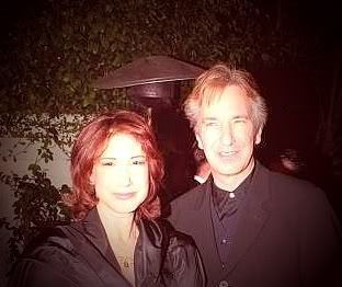 alan rickman fondo de pantalla containing a well dressed person, a business suit, and a portrait titled Alan and his sister