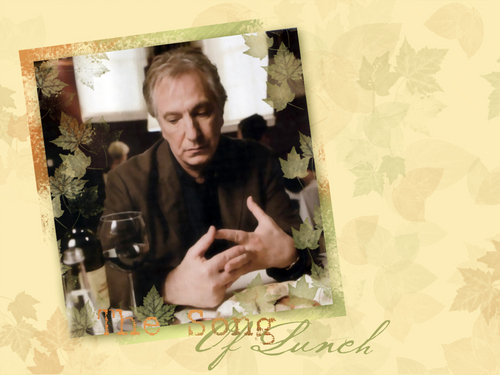 Alan in Song of Lunch :*