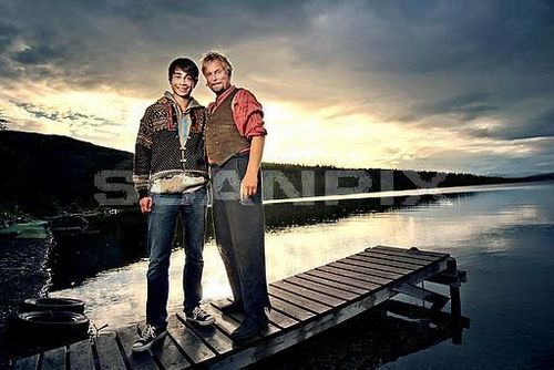 Alex and Dennis Storhøi(The Norwegian actor)