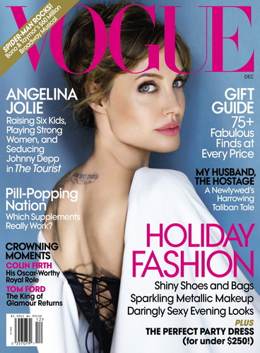 Angelina Jolie on the Cover of the December 2010 Issue of Vogue