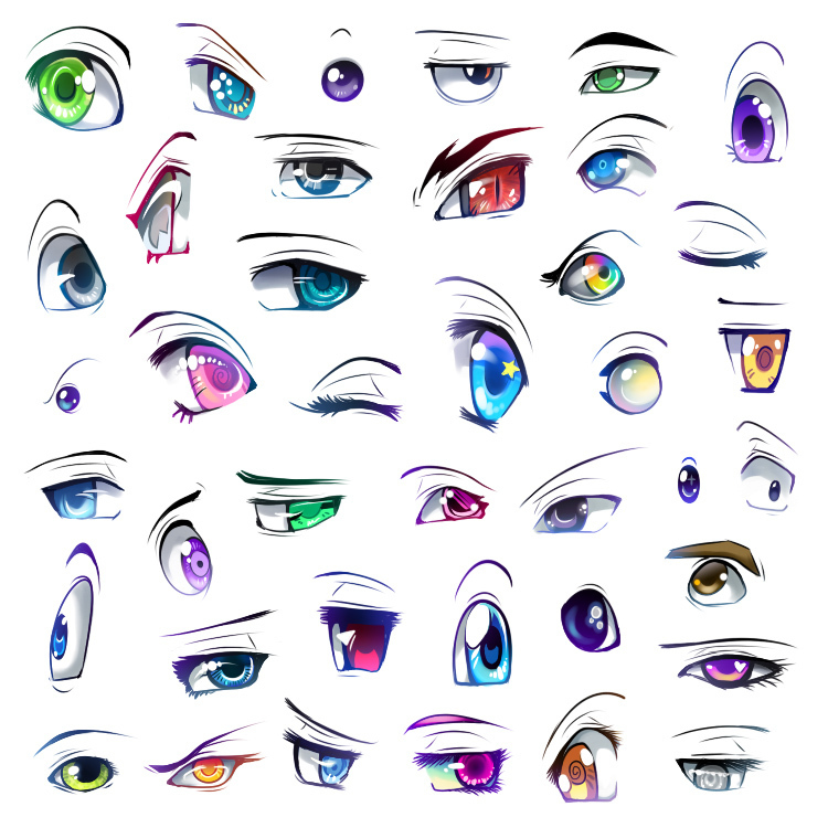 Anime Eyes Anime Fan Art 16902933 Fanpop