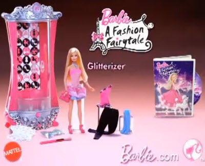 barbie A Fashion Fairytale Glitterizer Playset