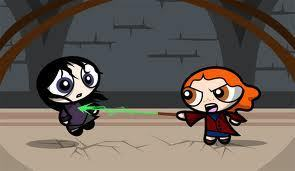 Bellatrix battles Molly Weasley