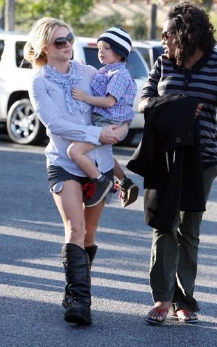 Britney & Jayden James out in Calabasas