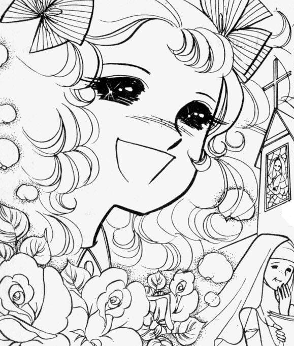 anime candy coloring pages - photo#32