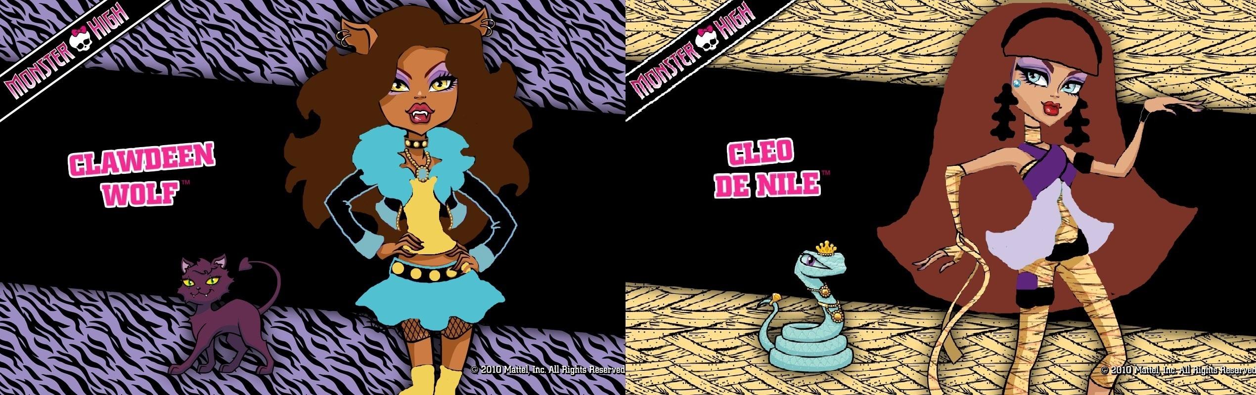 Clawdeen y Cleo cambio de color - monstruos de fotografías de alta