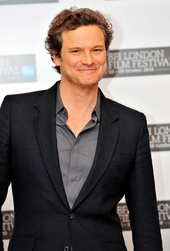 Colin Firth at The King's Speech Photocall at 54th BFI ロンドン Film Festival