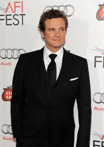 Colin Firth fond d'écran containing a business suit, a suit, and a three piece suit called Colin Firth at The King's Speech Tribute Gala at AFI Festival
