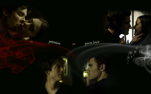 Damon-Elena-Stefan ( passion or pure love)