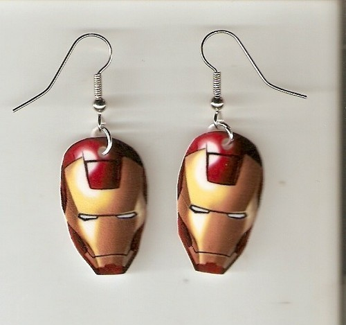 Earrings - iron-man Photo