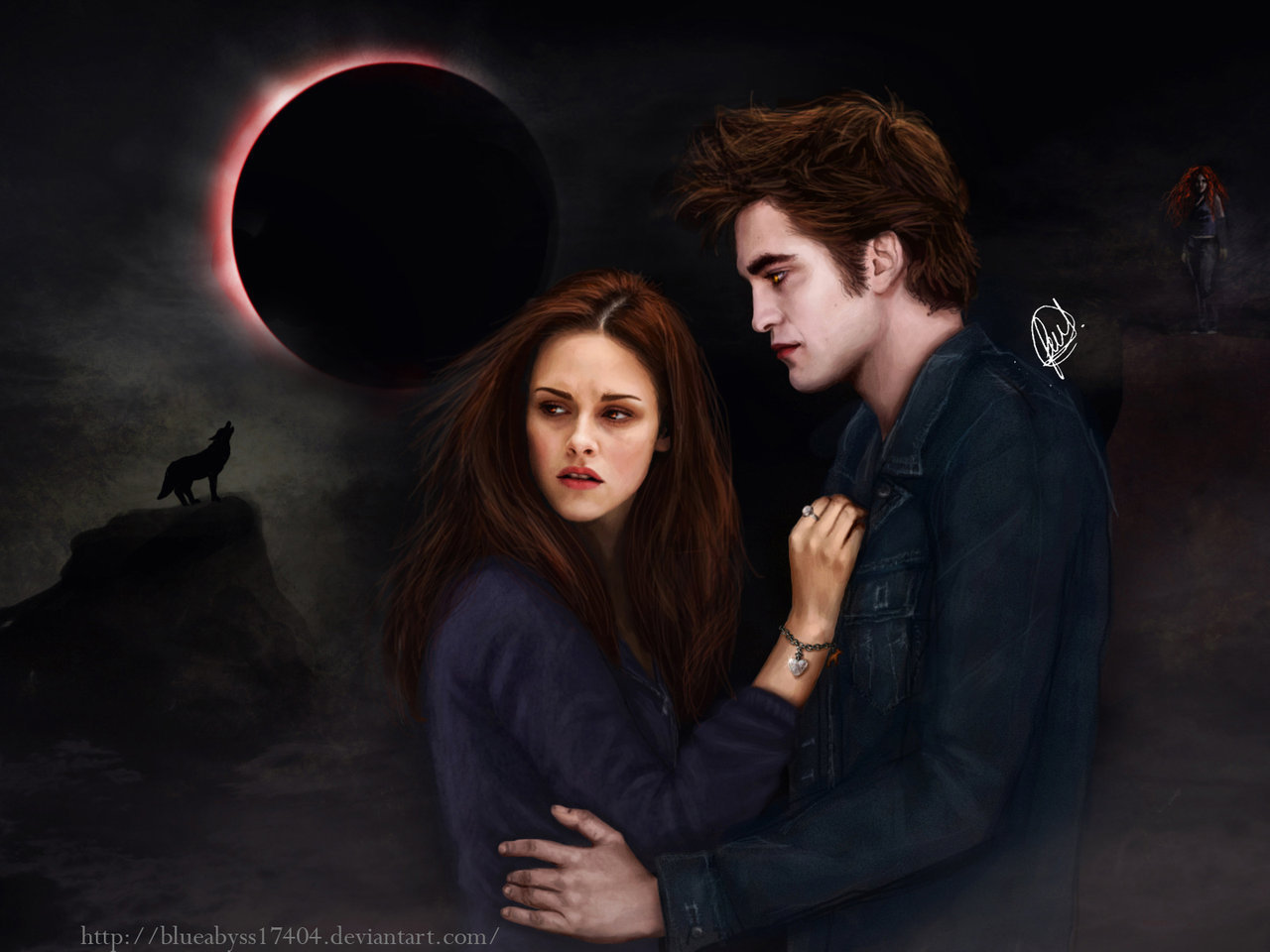 Twilight Love couple Wallpaper : Eclipse (fanmade) - The Twilight saga: Eclipse Wallpaper (16914306) - Fanpop