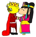 Emperor Rintoo and Princess Kai-Lan - First Kiss - ni-hao-kai-lan fan art