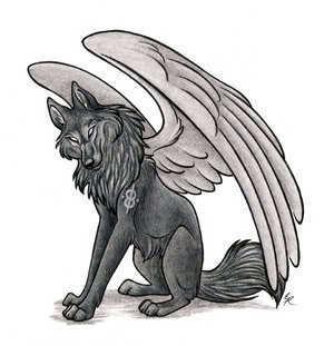 Winged 늑대