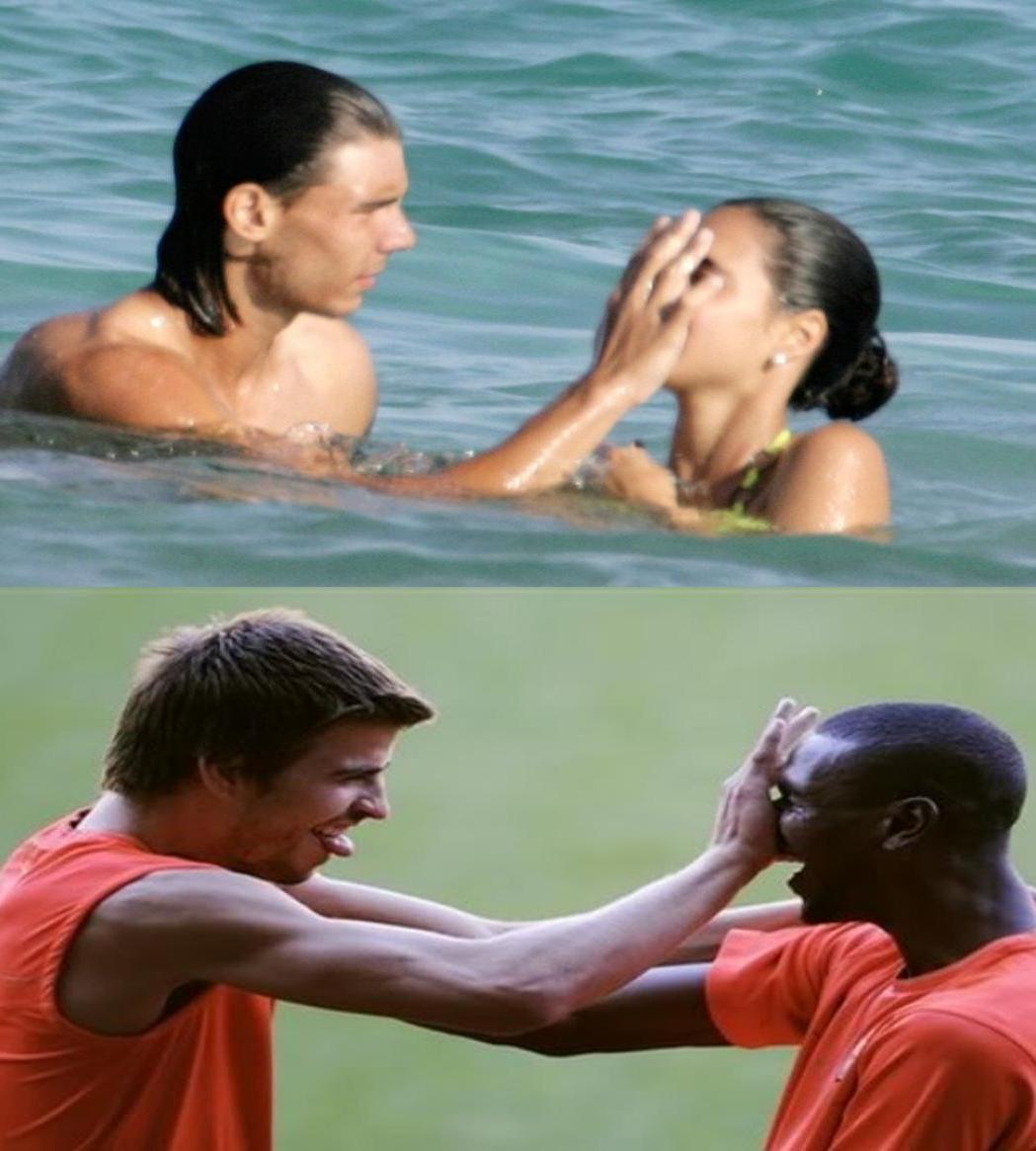 Gerard Piqué vs Rafael Nadal
