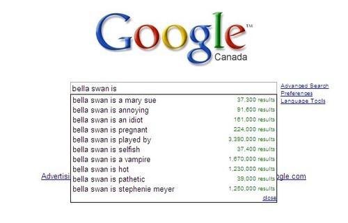 谷歌 about Bella Swan...