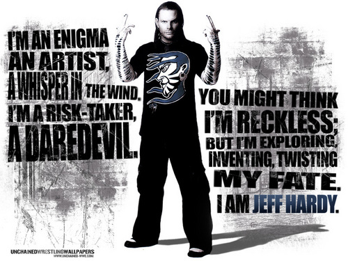 Jeff Hardy wallpaper probably containing a sign, a well dressed person, and a business suit entitled JEFF HARDY