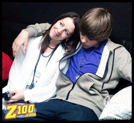 Justin and his mom. <3