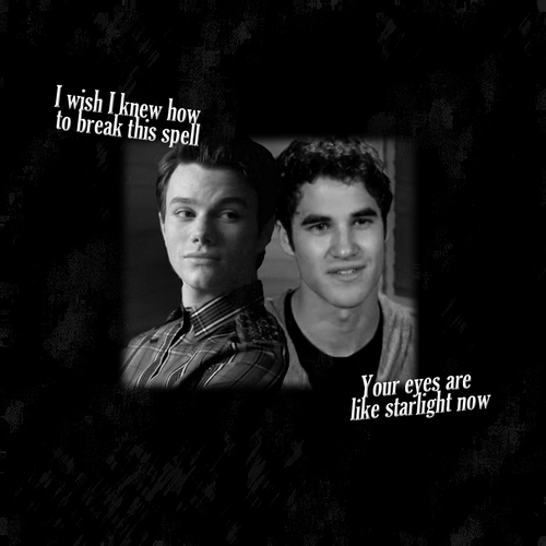 Kurt and Blaine wallpaper possibly containing a sign and a portrait called Kurt&Blaine