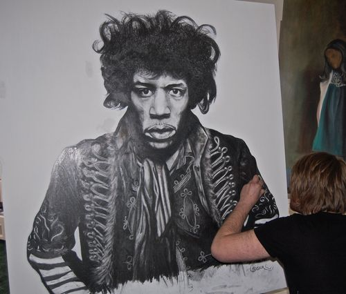 Large Jimi Hendrix Illustration FOR SALE!!!