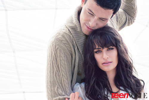 Lea Michele and Cory Monteith's Teen Vogue Cover Shoot