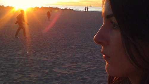 Location Shots: Shenae Grimes in Venice strand