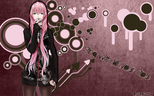 Megurine Luka wallpaper possibly with anime titled Luka Megurine