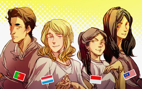 Luxembourg, Portugal, Indonesia, Malaysia