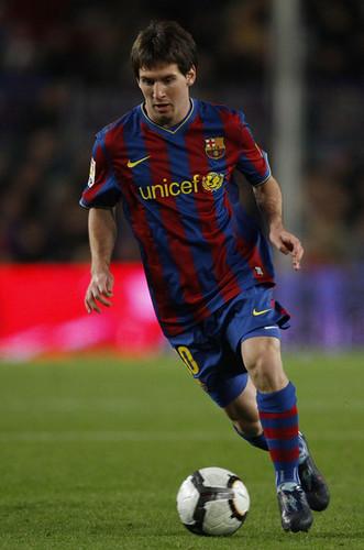 Messi playing for Barça