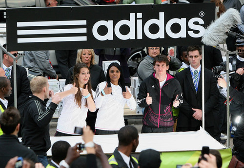 Messi representing adidas in London