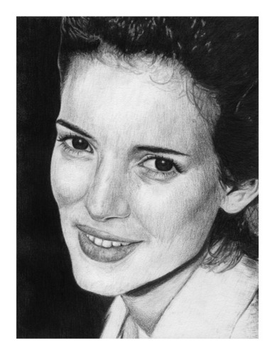 Portrait of Winona Ryder Smiling