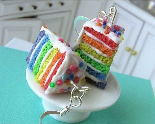 무지개, 레인 보우 Cake Earings