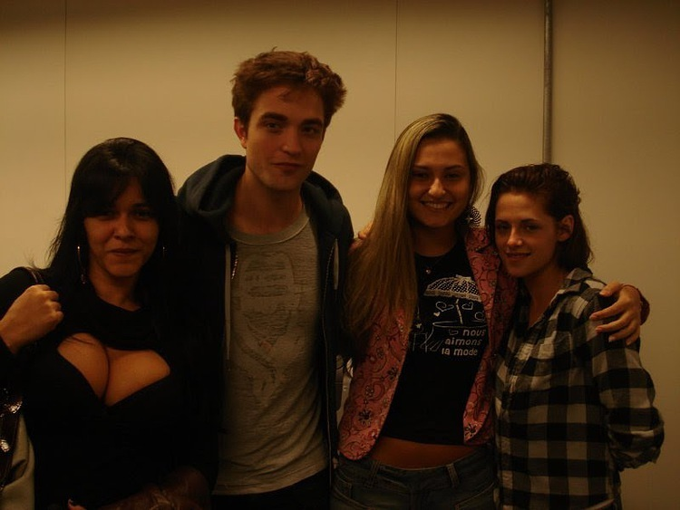 Robert and Kristen in the airport