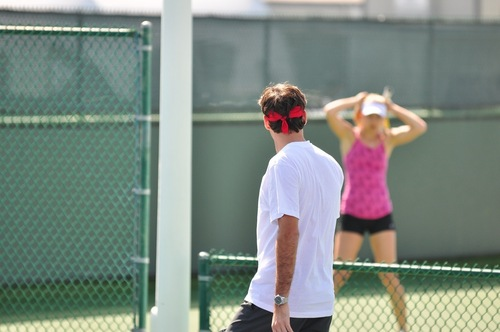 Roger Federer and Lucie Safarova