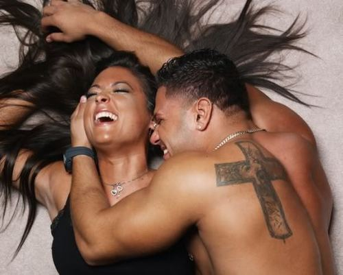 Jersey Shore wallpaper probably containing skin and a portrait called Sammi and Ronnie