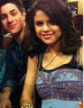 Selena and David on set - dalena photo